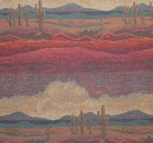 SAGUARO RED (RED SKY)  FURNITURE FABRIC RESIDENTIAL