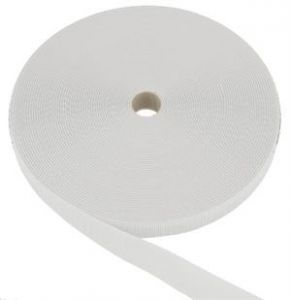 3/4 Inch WHITE HOOK SEW ON 25 YD  ROLLS